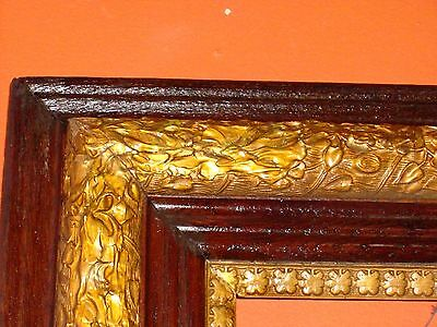 ANTIQUE FRAME French Baroque Hollywood Gold Gild Ornate Vintage Painting Mirror