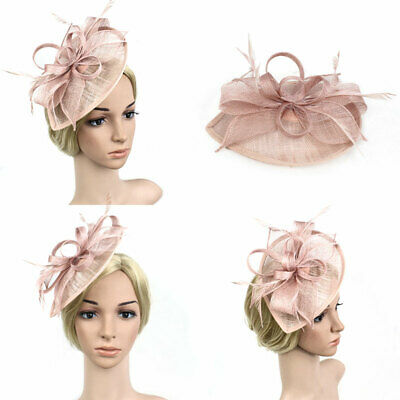 Feather Fascinators Vintage Women Wedding Party Headware Tea Party Hair Clip