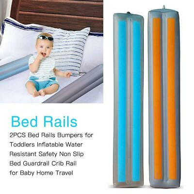 2PCS Home Travel Inflatable Waterproof Safety Anti-skid Bed Guardrail Crib Guard