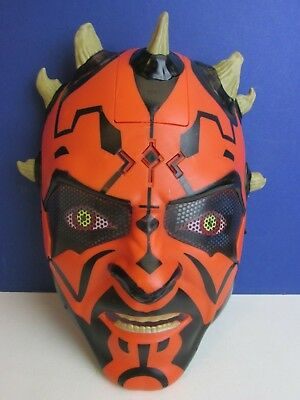 star wars DARTH MAUL MASK electronic TALKING cosplay FANCY DRESS COSTUME 36e