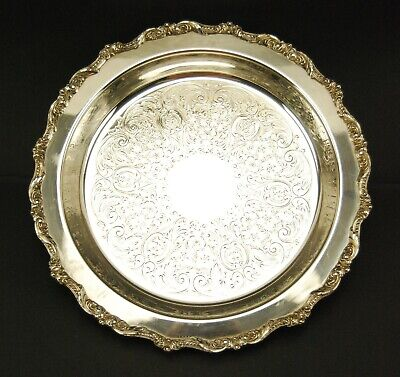 Poole Old English EPC Silverplate Footed Serving Tray / Pie Dish #5017