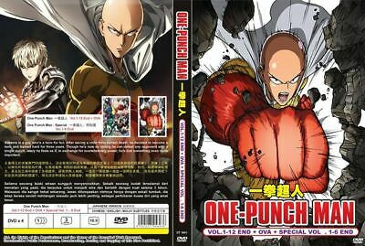 ONE PUNCH MAN DVD (Vol: 1 to 12 end + OVA +Special Vol 1-6 end