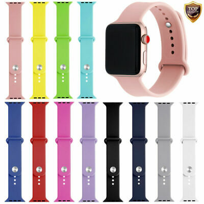 Replacement Strap 38/42mm Soft Silicone Sport Band for Apple Watch Series 1/2/3