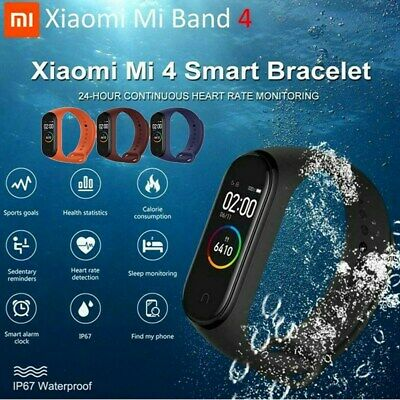 "Xiaomi Mi Band 4 Smart Watch Fitness Tracker 0.95"" Color AMOLED Screen Wristband"
