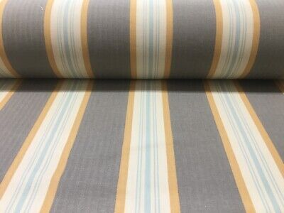 Brook Herringbone Woven Stripe Beige Grey //Coral Pink Curtain//Upholstery Fabric