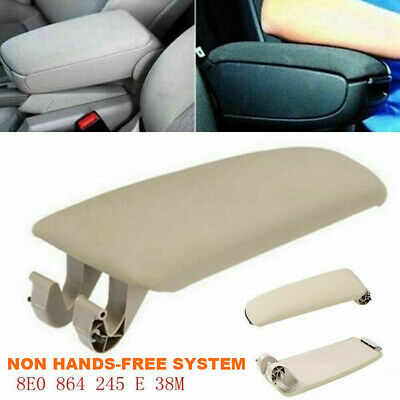For 2004-2008 AUDI A4 B7 Beige Leather Armrest Center Box Console Lid Cover BG2