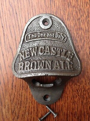 Cast Iron Bottle Opener/Wall Mounted/Heavy/Rustic/Antiqued/NEWCASTLE BROWN ALE