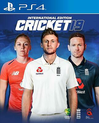 Cricket 19 - International Edition (PS4)  BRAND NEW AND SEALED - QUICK DISPATCH