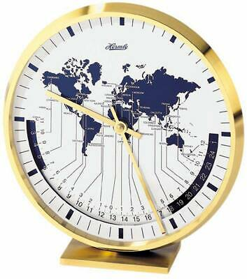 Hermle 22704-002100 - Table Clock - Metal  - Office Clock - New