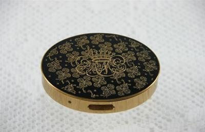 Elegant Vintage Alexandra De Markoff Oval Mirrored Make up Compact