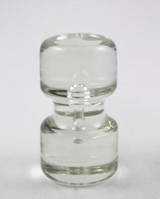 Mid Century Vintage Clear Glass Controlled Bubble Paperweight Italy Murano Glass