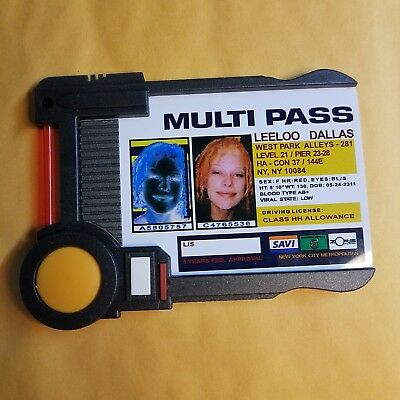 Fifth Element Multi Pass ID Badge Prop Replica Leeloo Dallas 1 to 1 Scale
