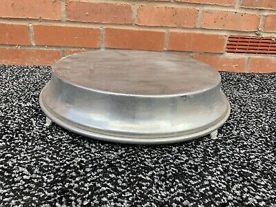 Vintage Silver Style Footed Cake Stand Metal Large Wedding Events 60s Aluminium