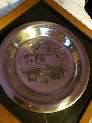 1975 Franklin Mint Thanksgiving Plate Sterling Silver Plate ~180 Grams Scrap