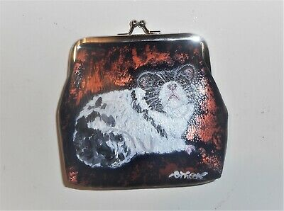 Hamster Animal Pet Gerbil Coin Change Purse Clutch Wallet Hand Painted