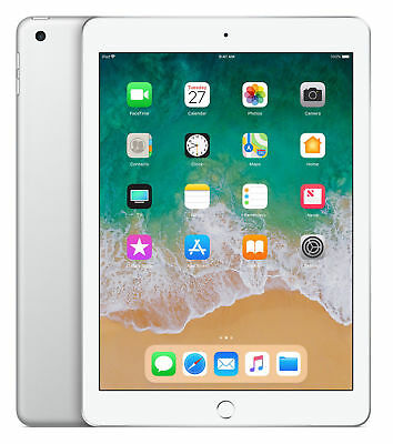 Apple iPad 2018 6th Gen. 128GB, Wi-Fi , 9.7in - Silver Brand New and Sealed