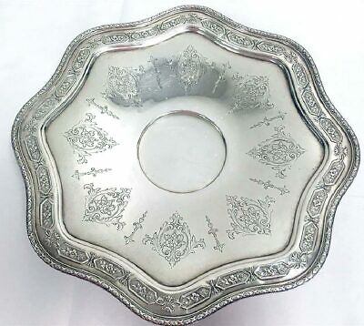 1924 Towle Sterling Silver Louis Xiv Scalloped Edge Footed Centerpiece Plate