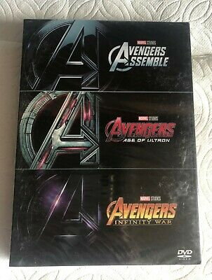 Avengers 1,2,3 DVD Box Set Marvel Movie Collection Infinity War Sealed Brand New