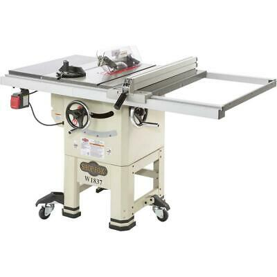 "Shop Fox W1837 10"" 2 HP Open-Stand Hybrid Table Saw with Enclosed Cabinet Bottom"
