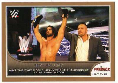2016 Topps WWE Road to Wrestlemania Bronze Parallel #31 Seth Rollins