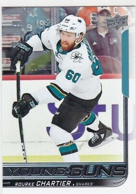 Rourke Chartier 2018-19 18-19 Upper Deck 2 Young Guns Rc Sp #495 Sharks