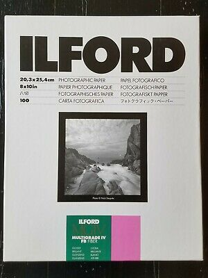 Ilford MGIV Multigrade IV Fiber 8x10 Glossy Photographic Paper Open Box & 5x7