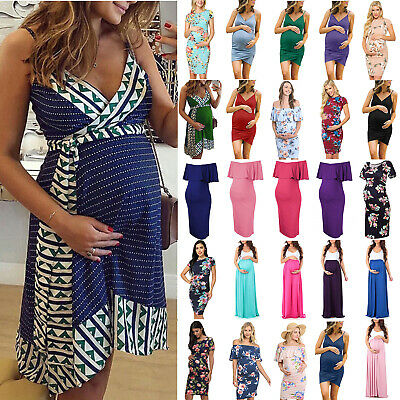 Pregnant Women Maternity Casual Party Dress Gown Photography Photo Shoot Prop