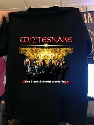 WhiteSnake Flesh and Blood Tour 2019 T SHIRT .