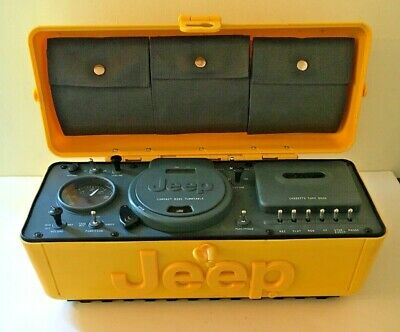 Vintage Yellow Jeep Boombox CD AM/FM Radio Cassette Player Portable WPSS-1A