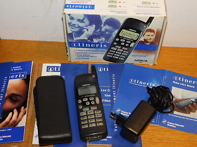 vintage TELEPHONE BIG NOKIA 1611 NHE-5SX portable CELL PHONE mobile ITINERIS