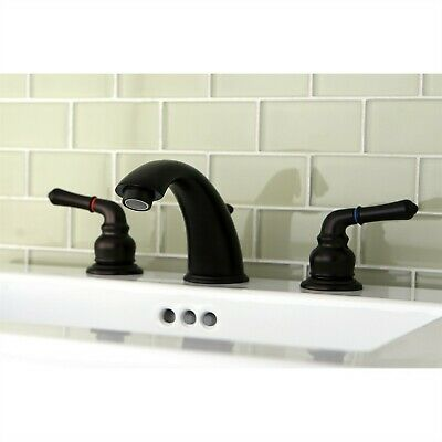 "Kingston Oil Rubbed Bronze 8""-16"" Widespread Bathroom Faucet w Pop-up KB965"