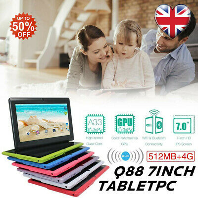 NEW 7 inch Android tablet Tablet 4GB+512MB Quad Core 4.4 Dual Camera Wifi HOT