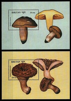 Bhutan 1989 - Mi-Nr. Block 198-199 ** - MNH - Pilze / Mushrooms