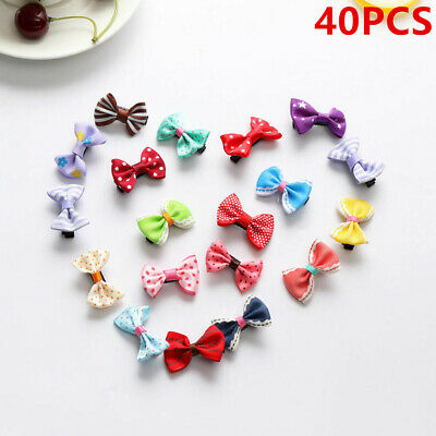 40Pcs Kids Baby Hair Clips Handmade Bow Hairpin Alligator Clips Hair Accessories