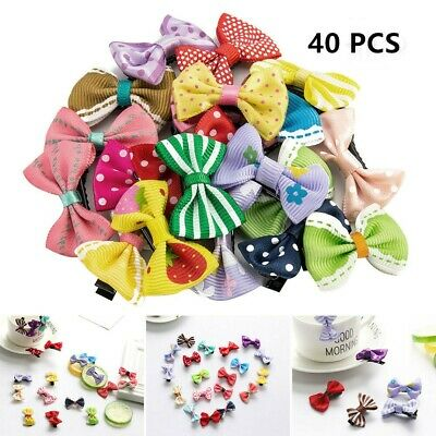 40 Pack Girls Baby Kids Bows Hair Clips Slides Hair Accessories Toddler Hairpins
