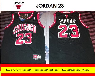 Camiseta Nba Retro  Chicago  Jordan  Bulls  N.23  Talla (S) Color Negro.
