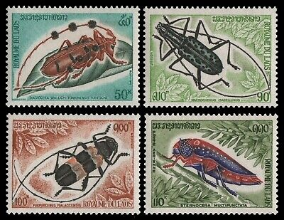 Laos 1974 - Mi-Nr. 390-393 ** - MNH - Insekten / Insects
