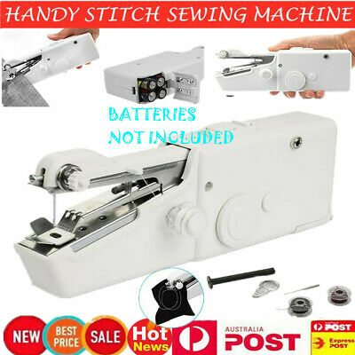Mini Portable Handheld Cordless Sewing Machine Hand Held Stitch Kit Home Clothes