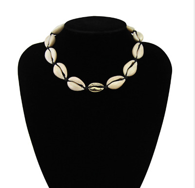 Boho Jewelry Natural Cowrie Shell Women Short Seashell Choker Necklace Gift