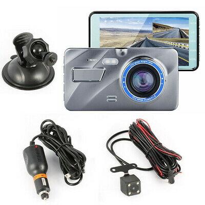 "UK Sell 4"" 1080P Dual Lens Car Dash Cam Front and Rear Camera DVR Video Recorder"