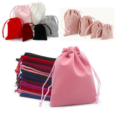 10X Small Velvet Cloth Drawstring Bags Gift Bag Jewelry Ring Pouch Earring Favor