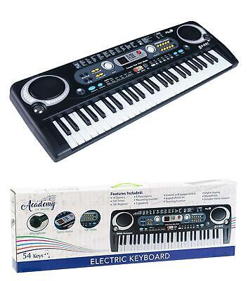 54 Key Digital Electronic Music Keyboard & Microphones Electric Piano Gift