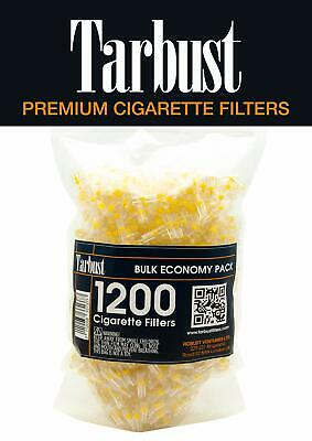 Tarbust Disposable Cigarette Filters Bulk Economy Pack,1200 Per Pack Cut The Nic