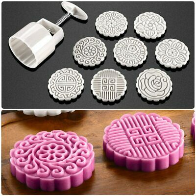 8 Flower Round Square 100g Pastry Moon Cake Mold Moon cake Mould Cookies