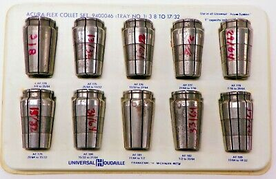 "Universal, Acura-Flex Collet Set, 3/8"" Thru 17/32""  Af-174 ~ Af-183    G012"
