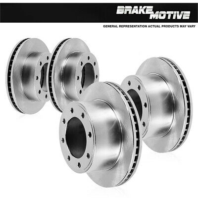 Front 331 mm And Rear 326 mm Brake Rotors Metallic Pads For FORD E150 E250 E350