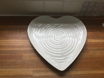 Portmeirion Sophie Conran White Large Heart Plate BRAND NEW