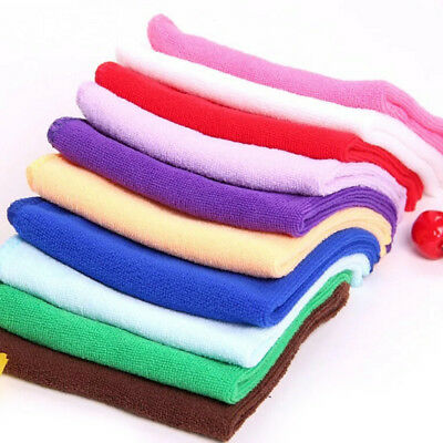 5PCS  Absorbent Microfiber Towel Car Home Kitchen Washing Clean Wash Cloth E&F