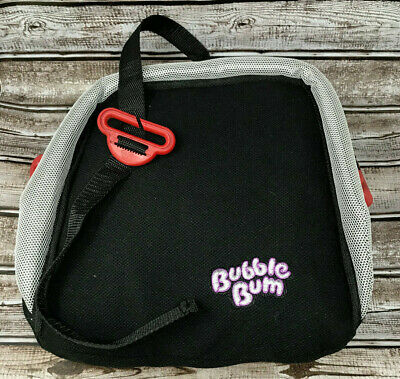 BubbleBum Inflatable Backless Booster Car Seat - Black - New Free Shipping