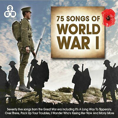75 Songs Of World War I - 75 Songs From The Great War Era 3CD NEW/SEALED